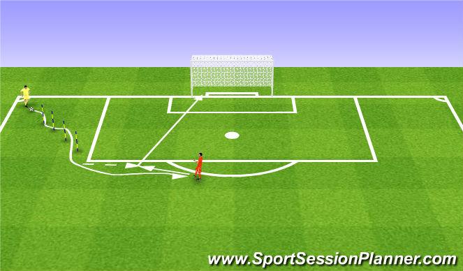 Football/Soccer Session Plan Drill (Colour): Uderzenie po prowadzeniu