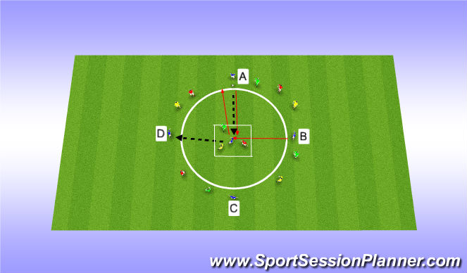 Football/Soccer Session Plan Drill (Colour): Drop in- Drop out(Part)