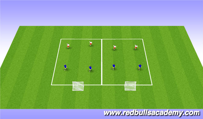Football/Soccer Session Plan Drill (Colour): Main 3