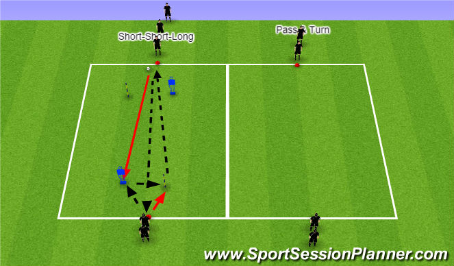 Football/Soccer Session Plan Drill (Colour): Passing Lines 2