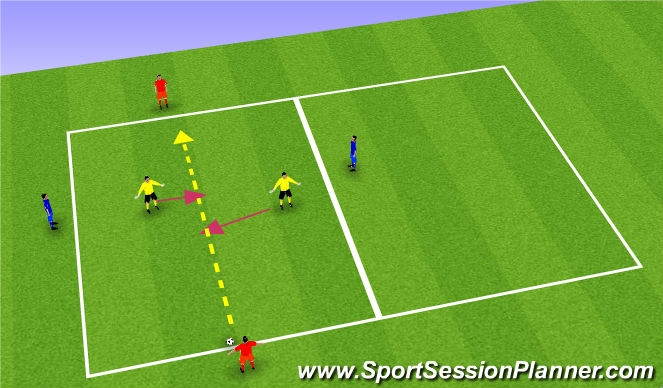 Football/Soccer Session Plan Drill (Colour): Play out get out