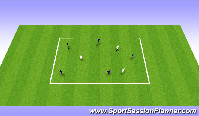 Football/Soccer Session Plan Drill (Colour): Skill Game: 5 v 3