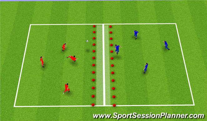 Football/Soccer Session Plan Drill (Colour): Fótboltatennis.