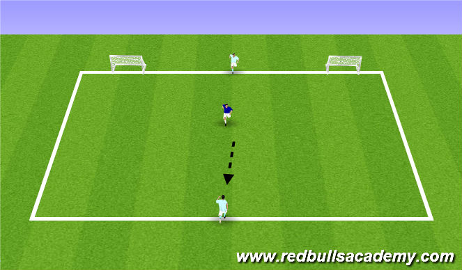 Football/Soccer Session Plan Drill (Colour): Supporting angles.