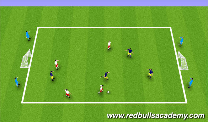 Football/Soccer Session Plan Drill (Colour): Cond. game
