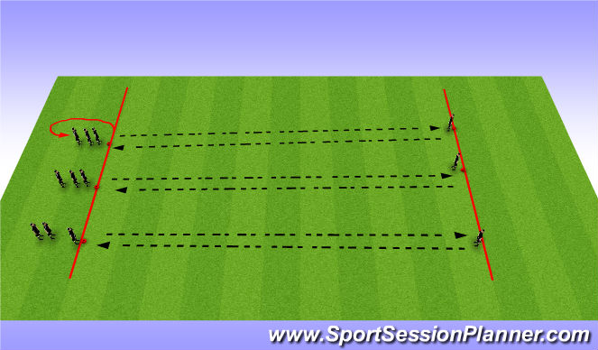 Football/Soccer Session Plan Drill (Colour): Passing Relay Game