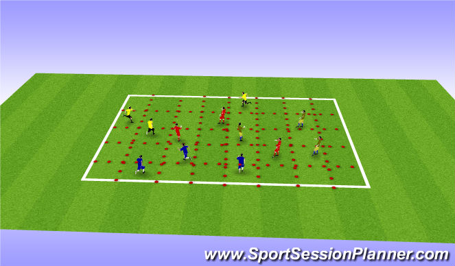 Football/Soccer Session Plan Drill (Colour): Spacial awareness