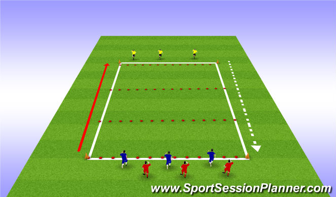 Football/Soccer Session Plan Drill (Colour): Height