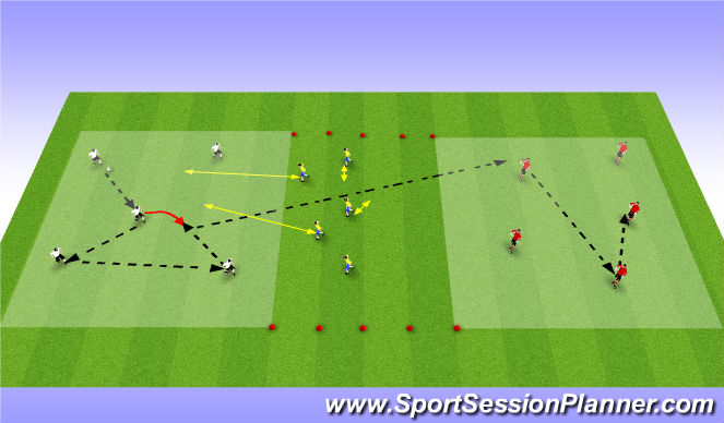 Football/Soccer Session Plan Drill (Colour): Grid 2