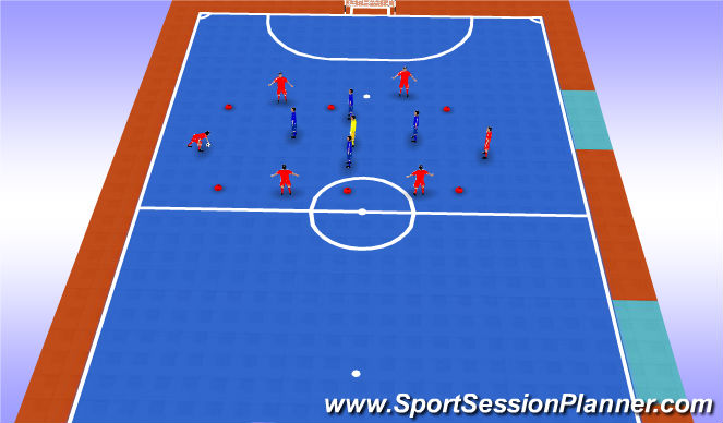Futsal Session Plan Drill (Colour): Drill