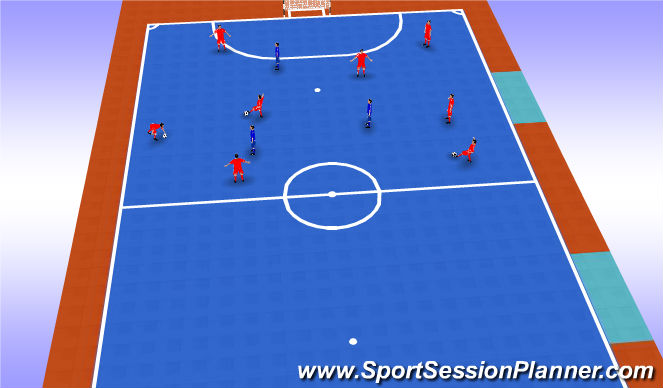 Futsal Session Plan Drill (Colour): Possession & Pressure