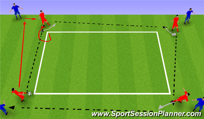 Football/Soccer Session Plan Drill (Colour): P&R