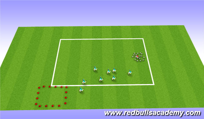 Football/Soccer Session Plan Drill (Colour): candy monster