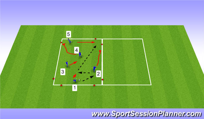 Football/Soccer Session Plan Drill (Colour): Warm-up (20 min)