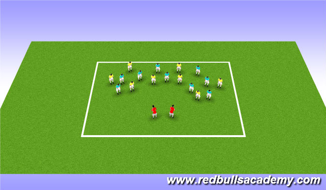 Football/Soccer Session Plan Drill (Colour): Get into Character! (Elisa says - Simon says)