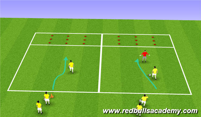 Football/Soccer Session Plan Drill (Colour): Memory (Rock Trolls)