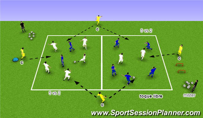 Football/Soccer Session Plan Drill (Colour): POS1