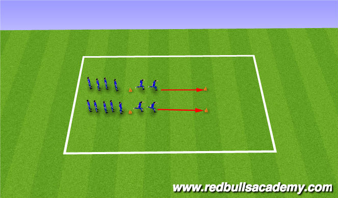 Football/Soccer Session Plan Drill (Colour): Warm Up- SAQ