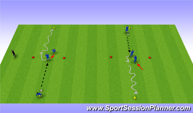 Football/Soccer Session Plan Drill (Colour): Turning to Penetrate