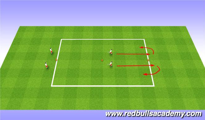 Football/Soccer Session Plan Drill (Colour): SAQ Warm-Up