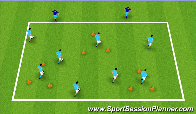 Football/Soccer Session Plan Drill (Colour): Get Out