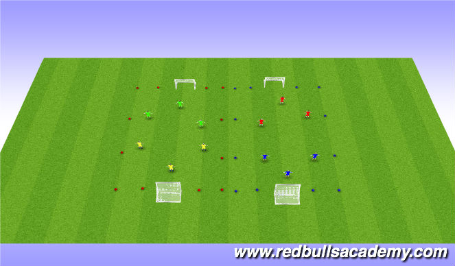 Football/Soccer Session Plan Drill (Colour): Street Soccer Tournament