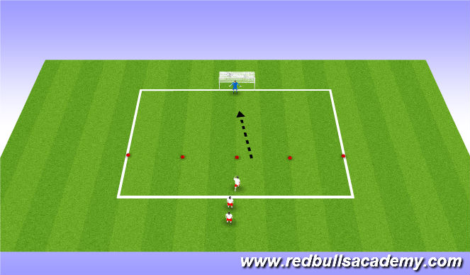 Football/Soccer Session Plan Drill (Colour): Lightning