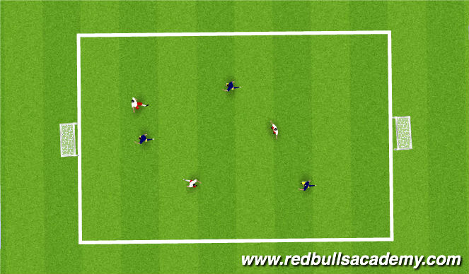 Football/Soccer Session Plan Drill (Colour): Small - sided game