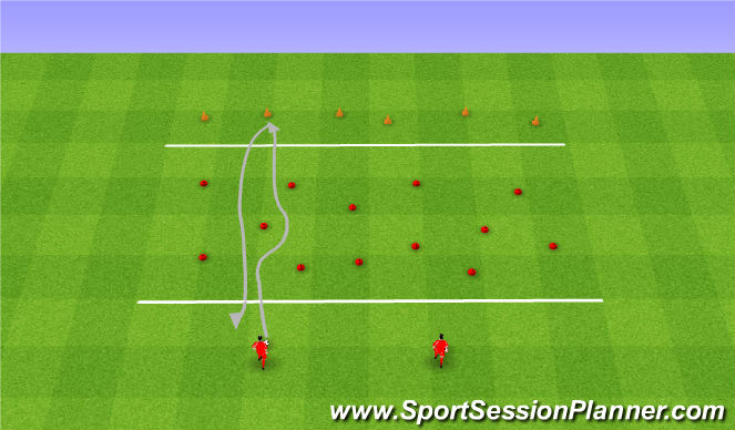 Football/Soccer Session Plan Drill (Colour): Volcanos and treasures. Wulkany i skarby.