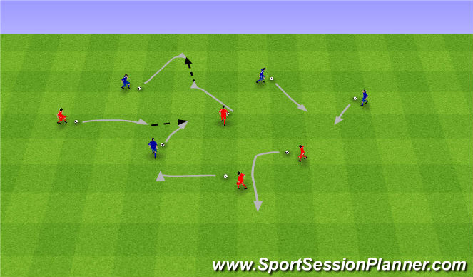Football/Soccer Session Plan Drill (Colour): Dodgeball. Zbijak.