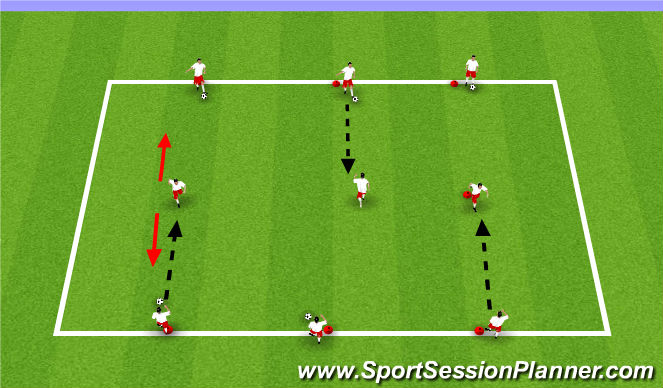 Football/Soccer Session Plan Drill (Colour): Passing&Receing