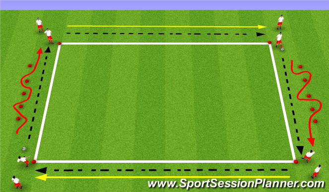 Football/Soccer Session Plan Drill (Colour): Passing&Receiving