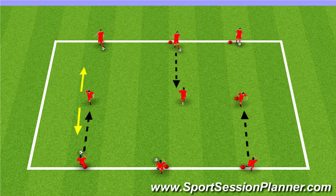 Football/Soccer Session Plan Drill (Colour): Passing&Receiving Technical
