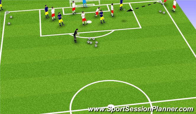 Football/Soccer Session Plan Drill (Colour): SSG-King Louis/World Cup