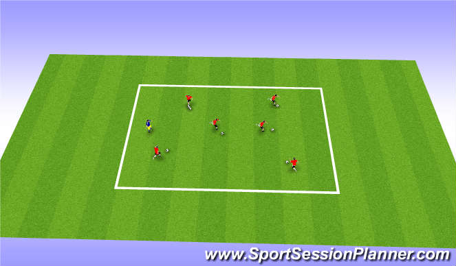 Football/Soccer Session Plan Drill (Colour): Ball Steal