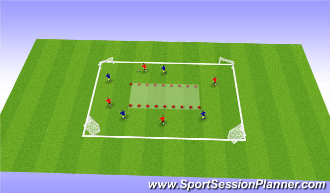 Football/Soccer Session Plan Drill (Colour): Spread Out Game