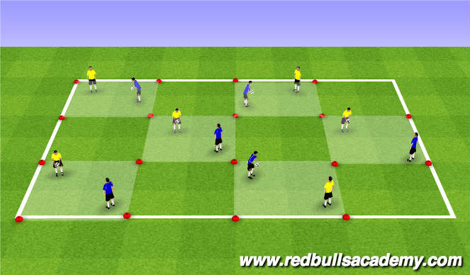 Football/Soccer Session Plan Drill (Colour): Warm Up (801)