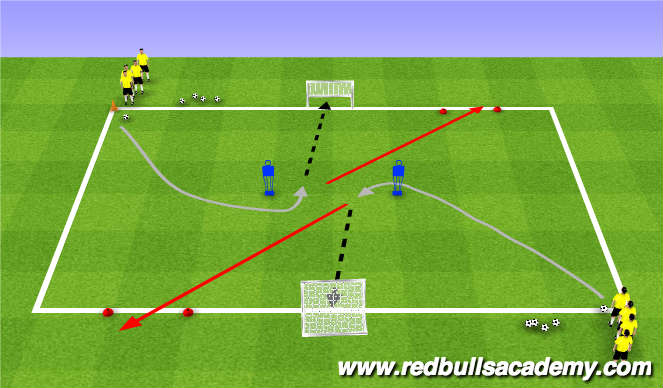 Football/Soccer Session Plan Drill (Colour): Main Theme (814)