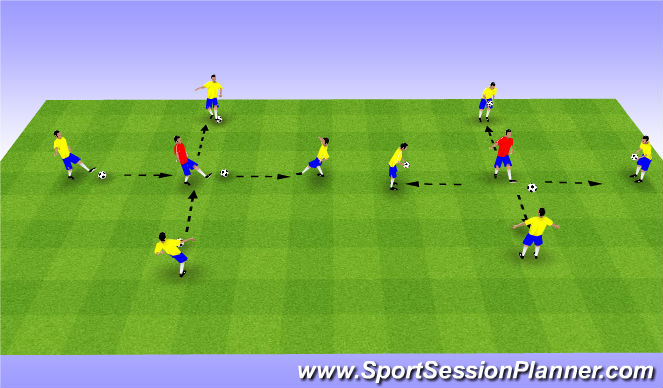 Football/Soccer Session Plan Drill (Colour): Skill Intro - Part 1