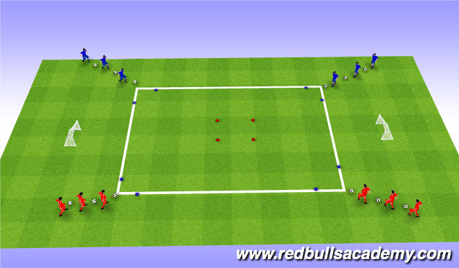 Football/Soccer Session Plan Drill (Colour): Unopposed + Semi opposed- turns