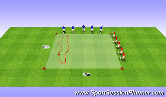 Football/Soccer Session Plan Drill (Colour): WU | dribblen | kappen
