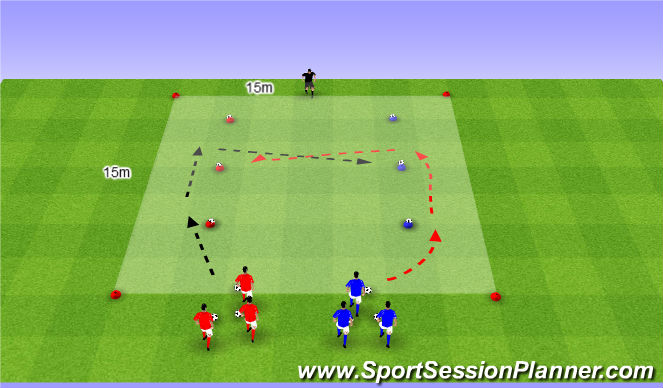 Football/Soccer Session Plan Drill (Colour): WU | THE KNOCK OFF GAME