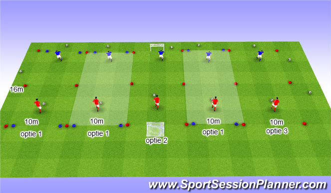 Football/Soccer Session Plan Drill (Colour): 1:1 toernooi