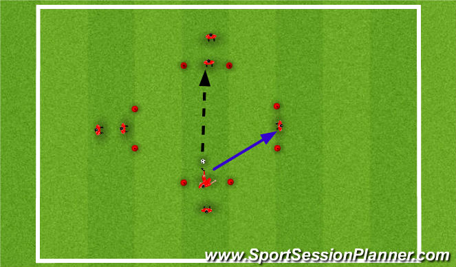 Football/Soccer Session Plan Drill (Colour): Pass & Move