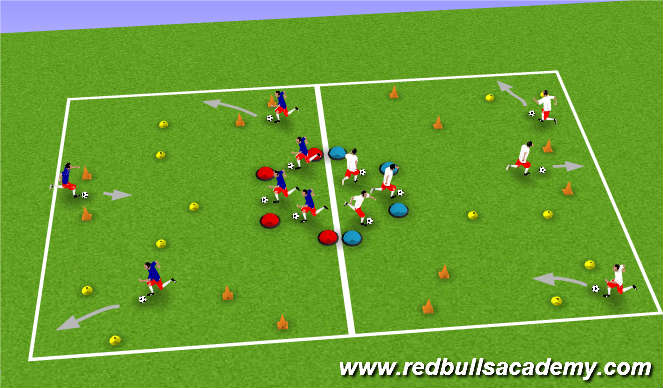 Football/Soccer Session Plan Drill (Colour): Turning: Inside Cut