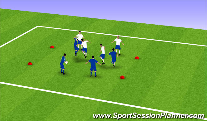 Football/Soccer Session Plan Drill (Colour): Heading 2v2