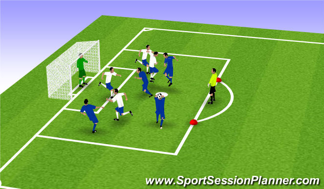 Football/Soccer Session Plan Drill (Colour): Ultimate heading