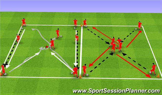 Football/Soccer Session Plan Drill (Colour): Upphitun 1.