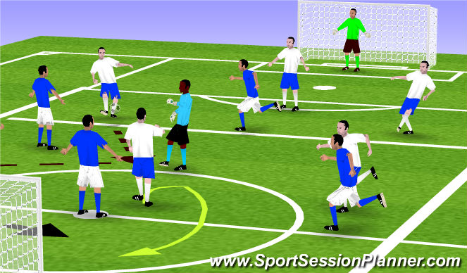 Football/Soccer Session Plan Drill (Colour): P-assing & Receiving Game