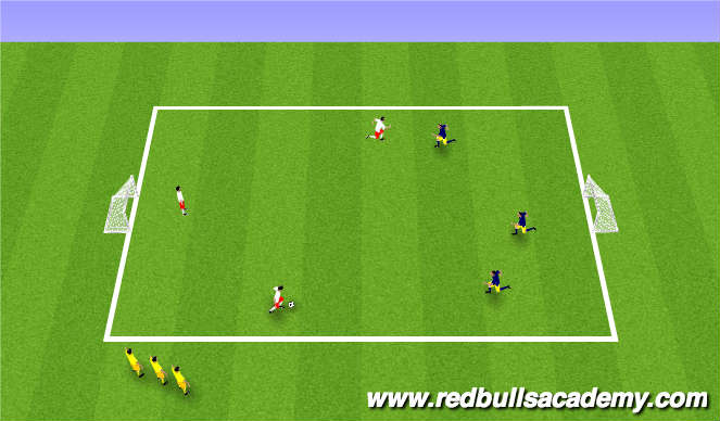 Football/Soccer Session Plan Drill (Colour): 3v3 SSG